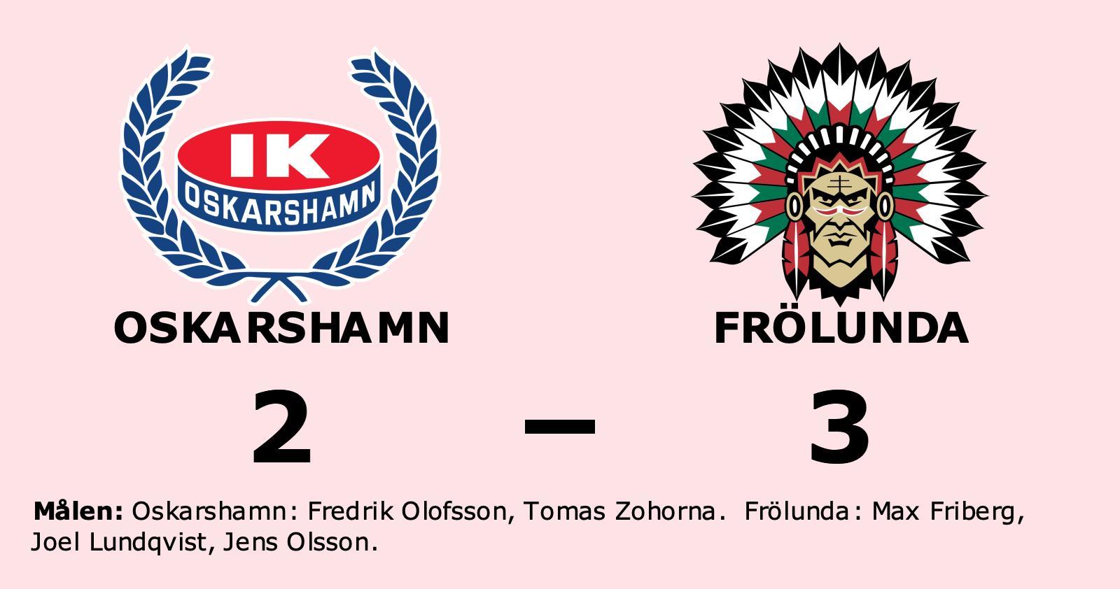 Förlust i förlängningen för Oskarshamn mot Frölunda