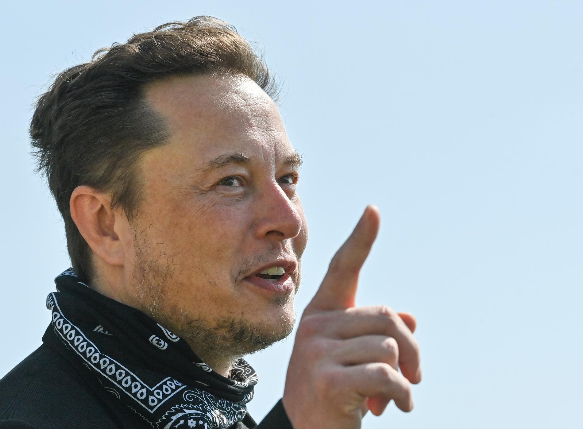 Elon Musk. Bild tagen då han besökte Tyskland i förra veckan.