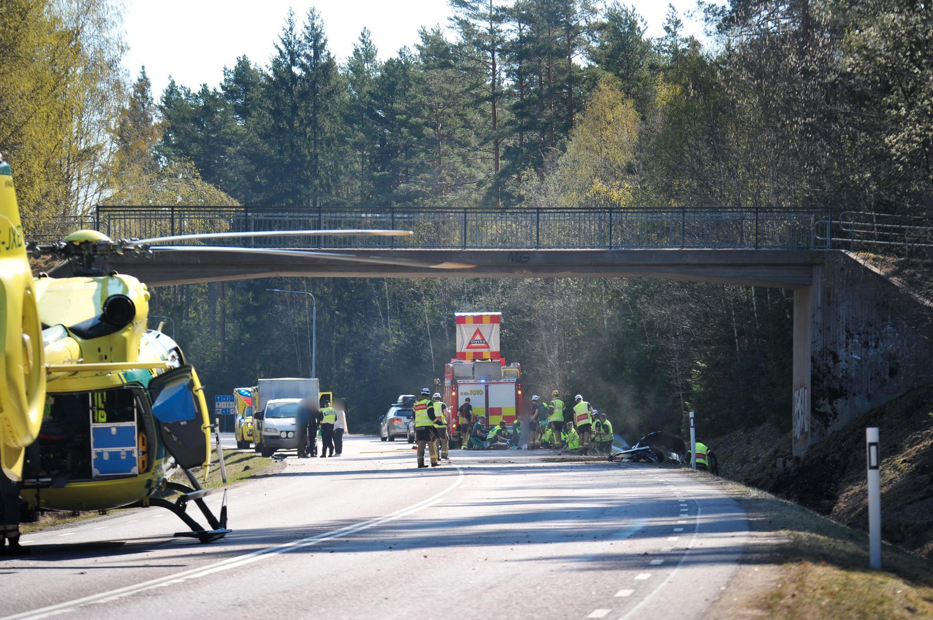 Trafikolycka på Gravaleden norr om Karlstad.