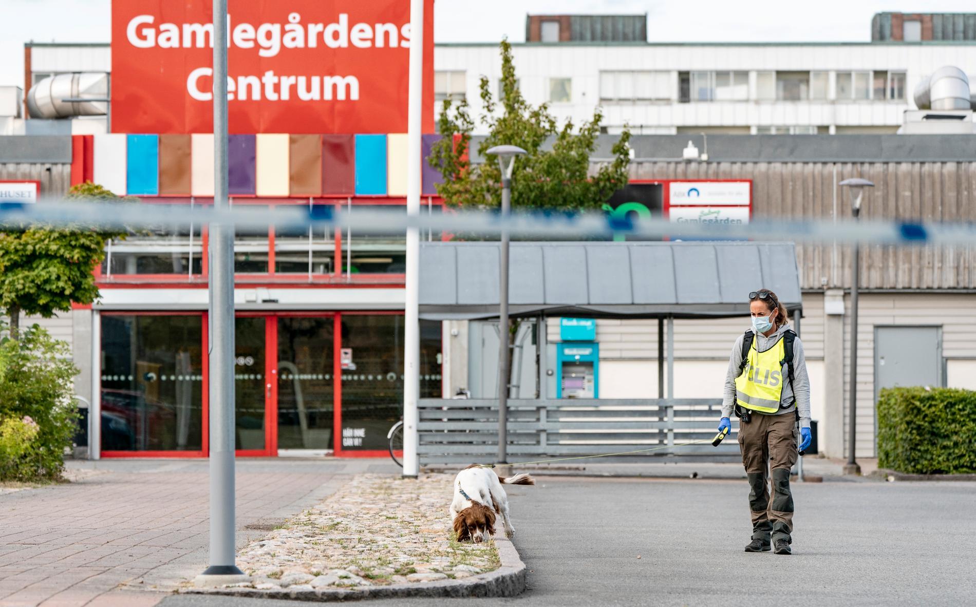 Tre personer skadades vid en skottlossning den 3 augusti vid Gamlegårdens centrum i Kristianstad. Arkivbild.