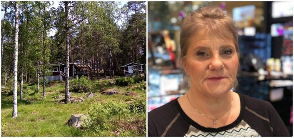 Annika Carlsson i Munkfors lånar ut sitt sommarhus gratis till vårdpersonal som behöver återhämtning under semestern.