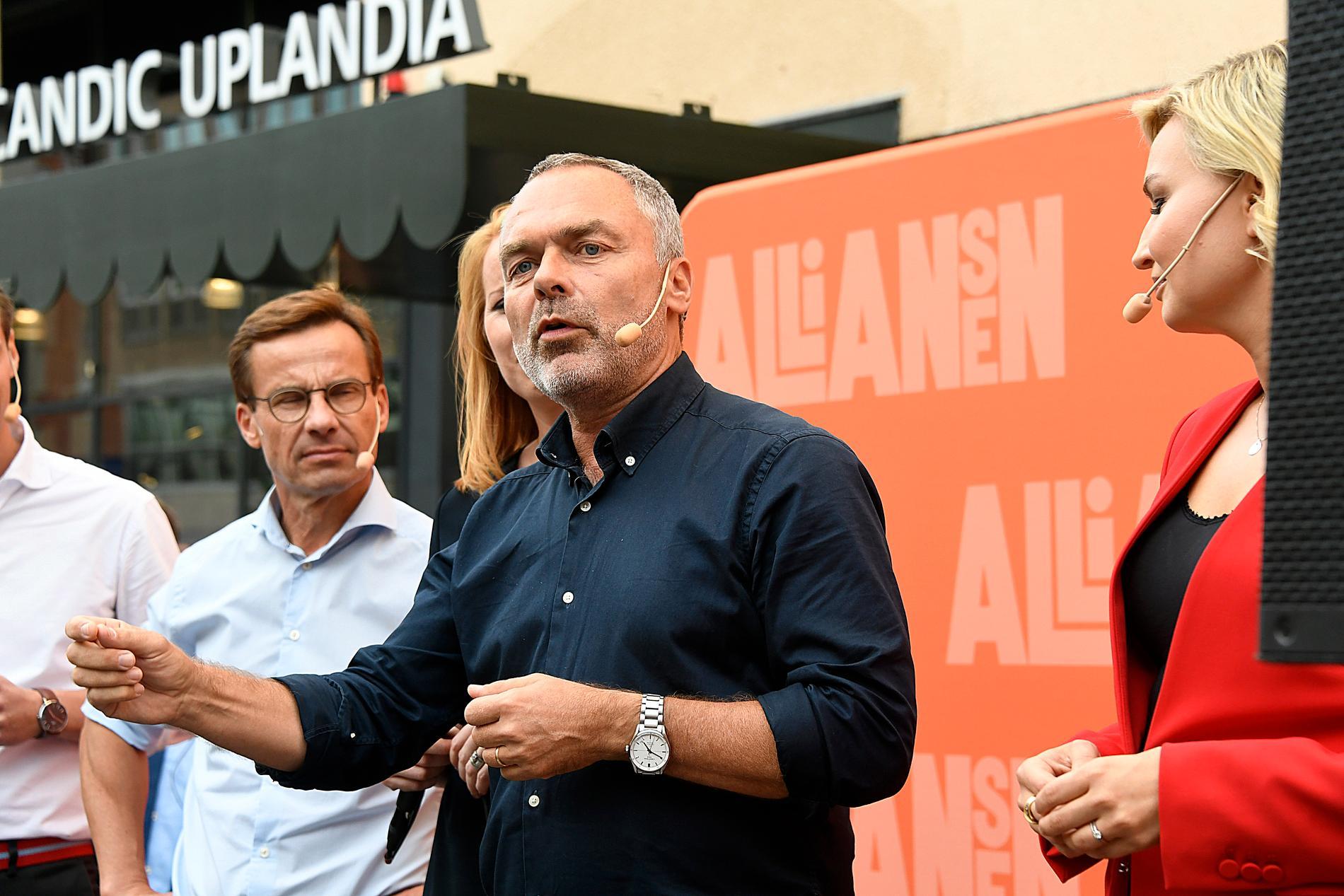 Ulf Kristersson (M), Jan Björlund (L) Och Ebba Busch Thor (KD)