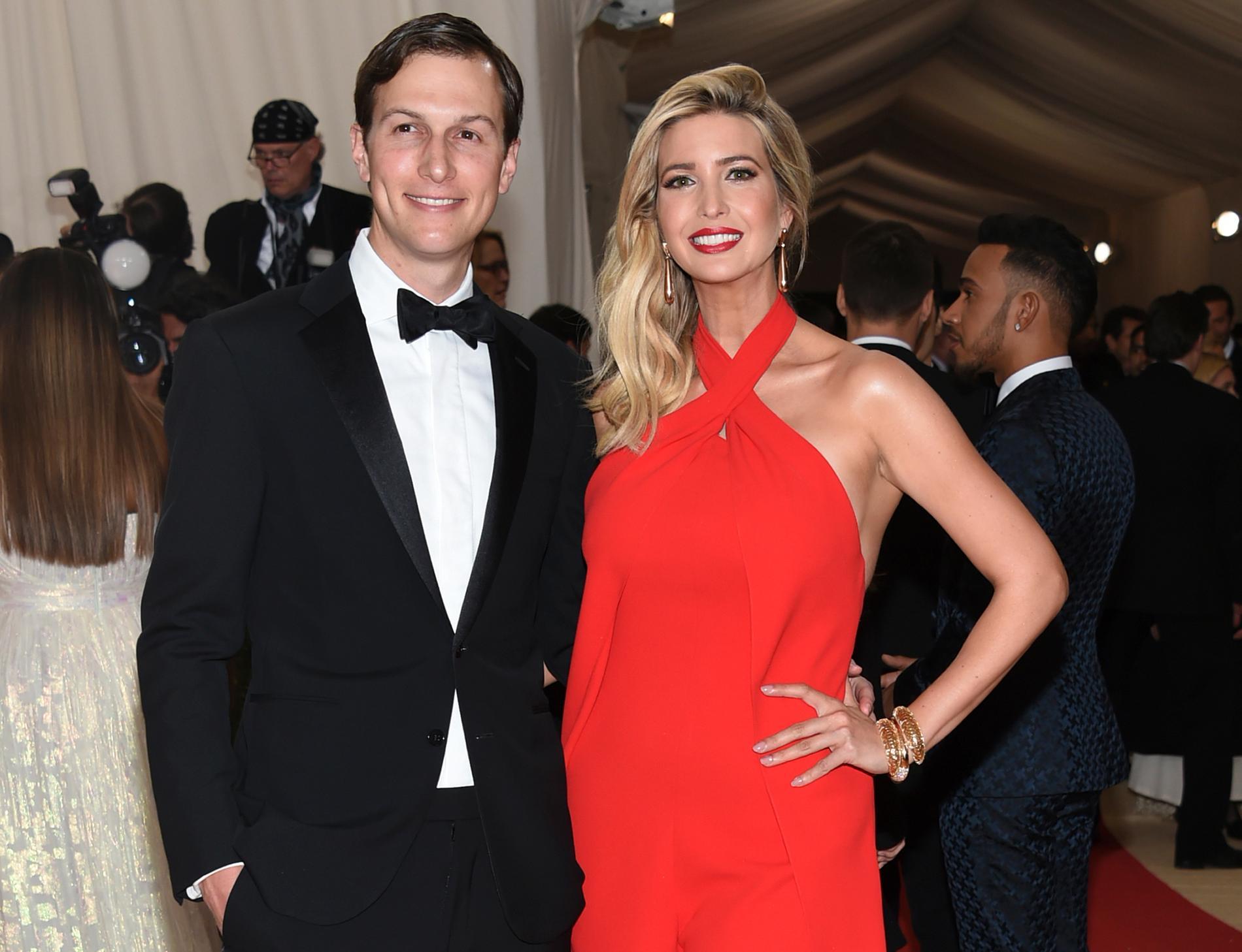 Trumps svärson Jared Kushner och dotter Ivanka Trump på en gala i New York i maj 2016