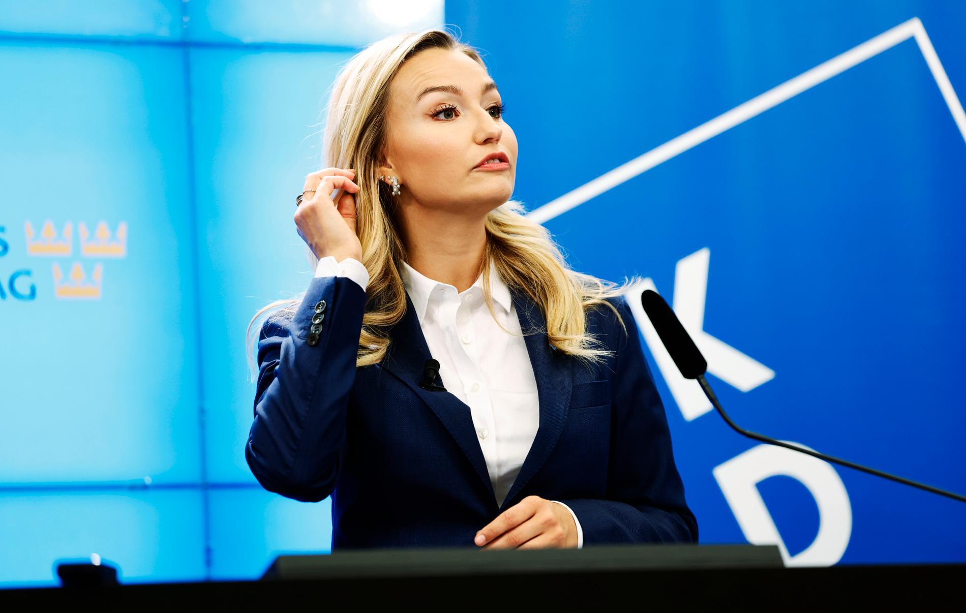 Kristdemokraternas partiledare Ebba Busch. Arkivbild.