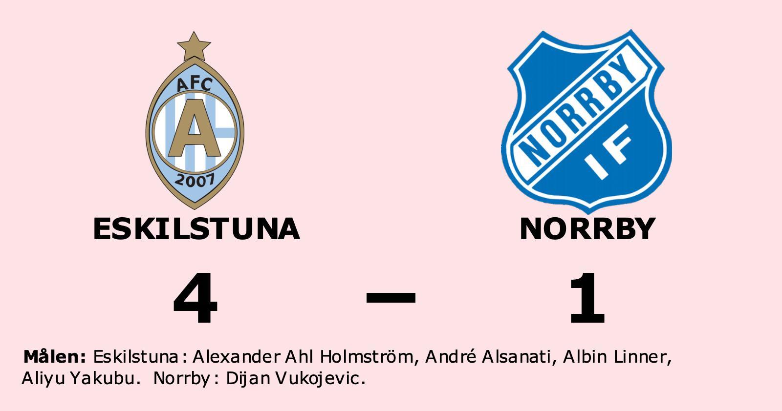 Förlust för Norrby borta mot Eskilstuna
