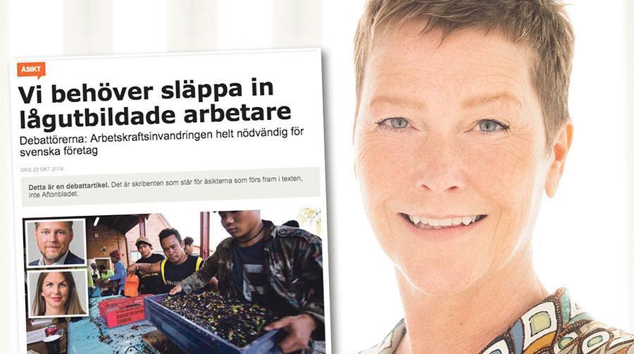 När Företagarna efterlyser arbetskraftsinvandring från länder utanför Europa – säger vi: Varsågoda! Sverige har många fantastiska ungdomar som snart blir anställningsbara, skriver Eva Brandsma.