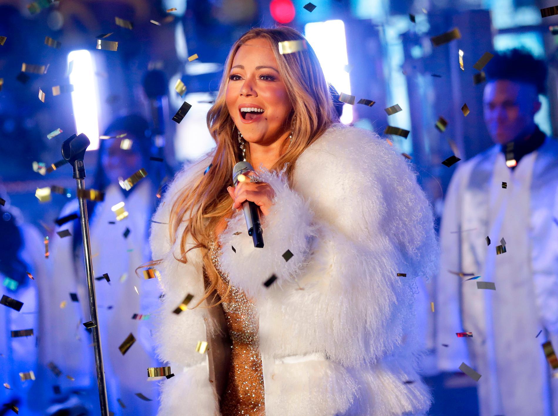 """Mariah Careys klassiska jullåt """"All I want for Christmas is you"""" hamnar på singellistans femteplats. Arkivbild."""