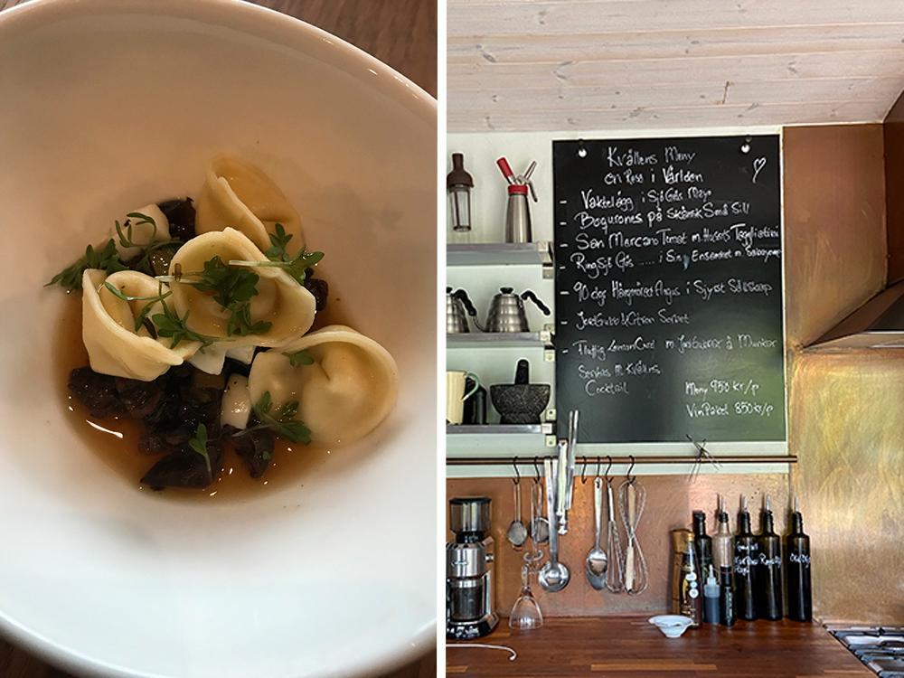 Menyn på Pia's Kitchen varierar från vecka till vecka – med fokus på råvaror från närområdet.