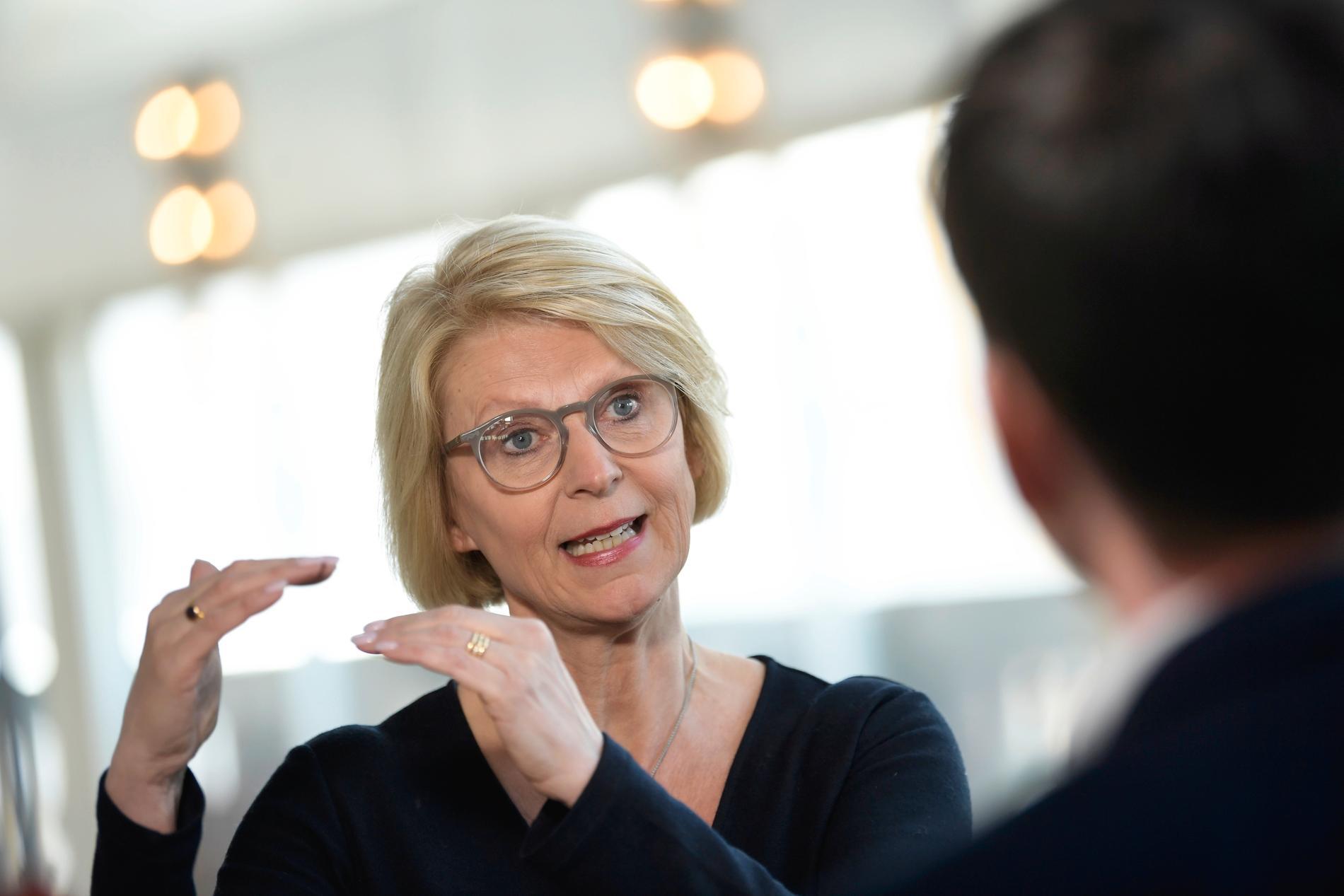Moderaternas ekonomisk-politiska talesperson Elisabeth Svantesson. Arkivbild