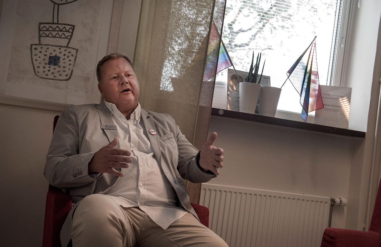 Göran Törnqvist, rektor på Lorensbergaskolan.