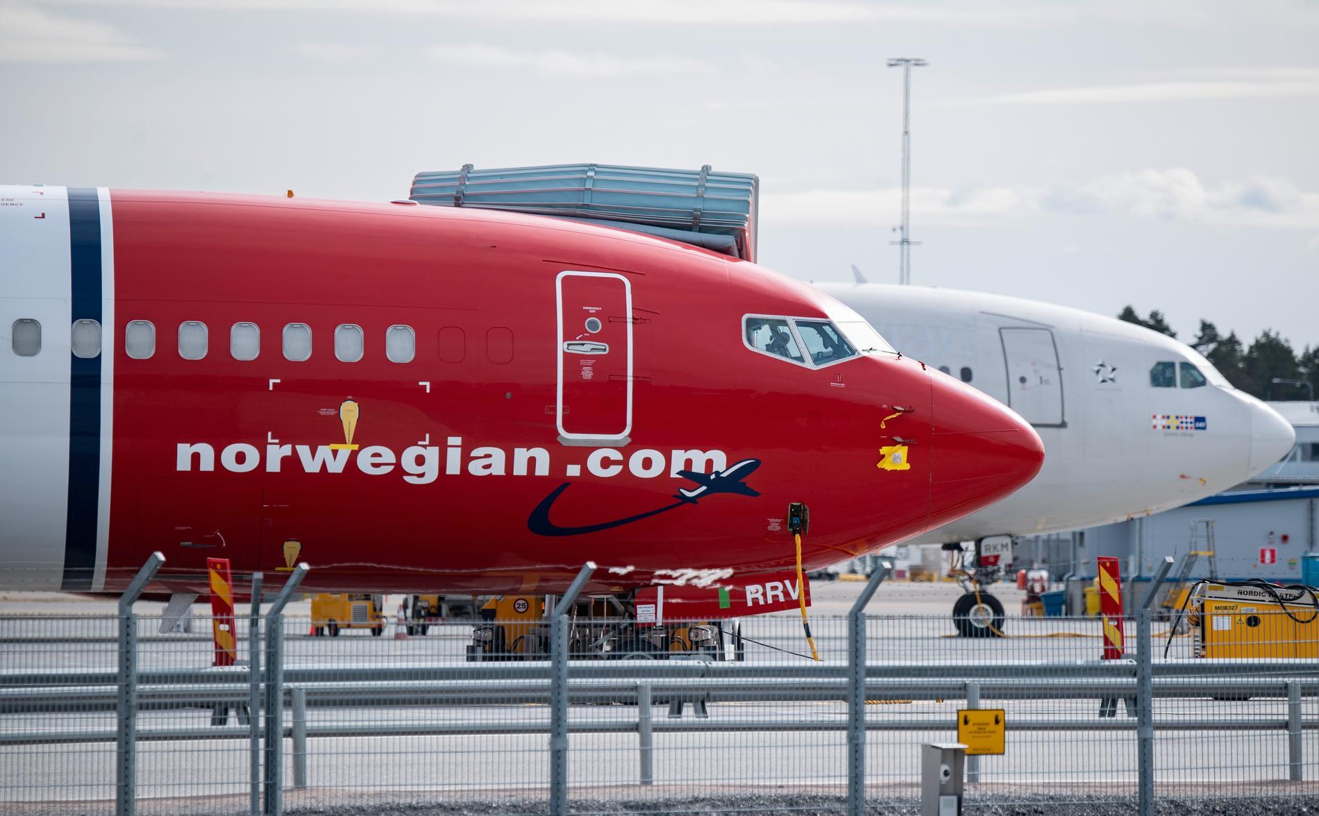 Norwegians pilot- och kabinbolag i Sverige och Danmark ansöker om konkurs. Arkivbild.