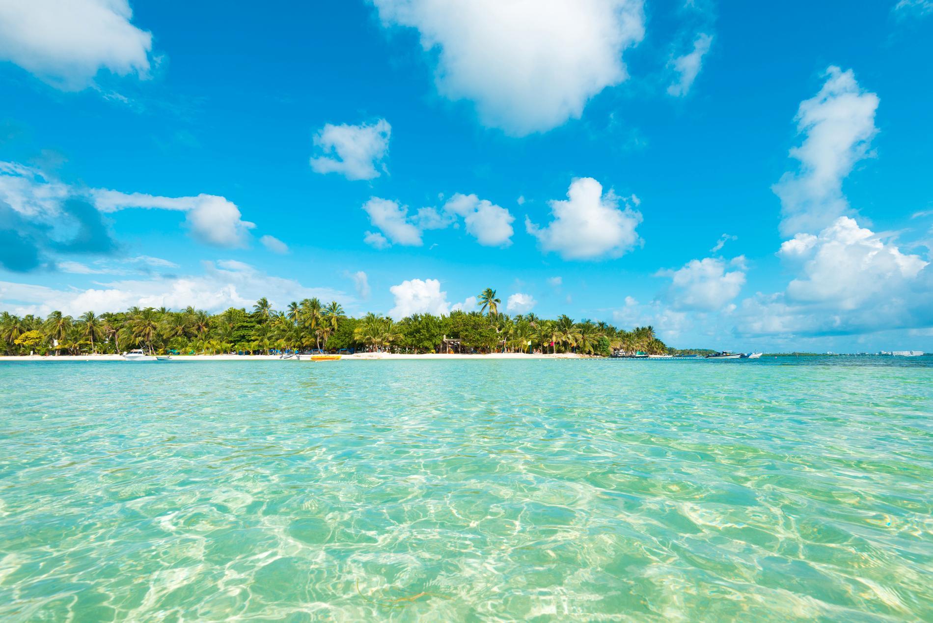 Ön San Andres tillhör Colombia, även om den ligger utanför Nicaragua.