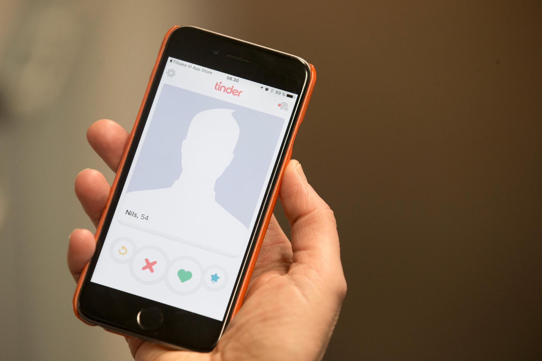 En man i Danmark lyckades lura till sig över två miljoner kronor från kvinnor som han träffat på dejtingappen Tinder. Arkivbild.
