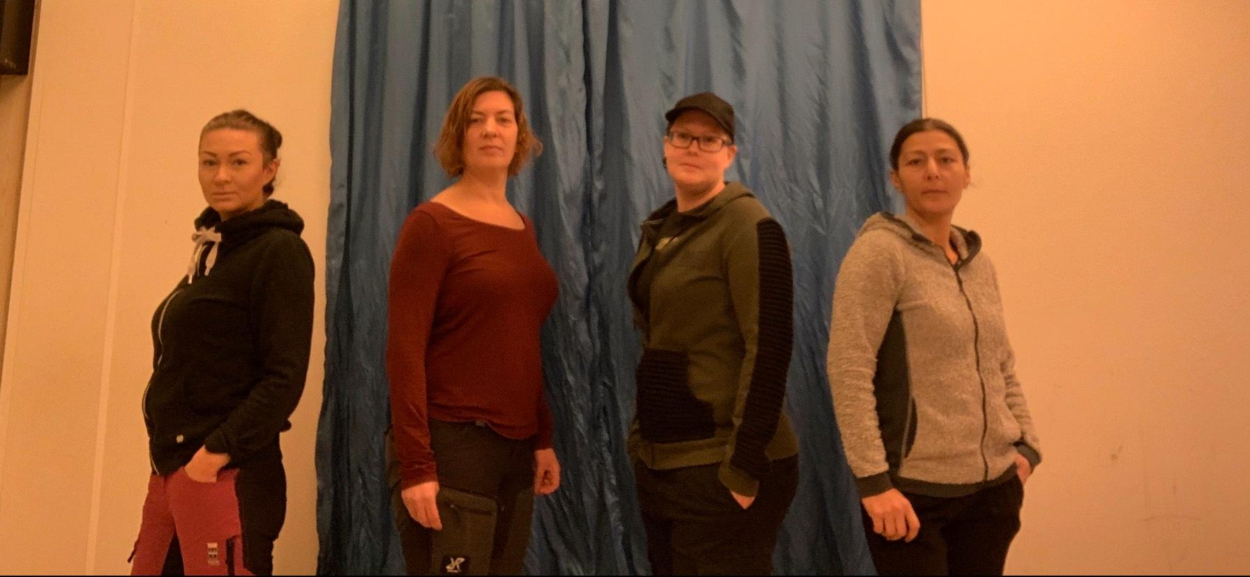 Hatice, Samantha, Anneli och Marlene.