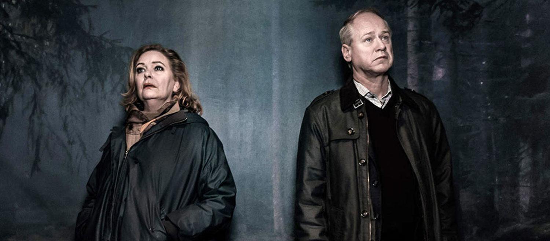 """""""Det som göms i snö"""" med Robert Gustafsson och Ia Langhammer."""