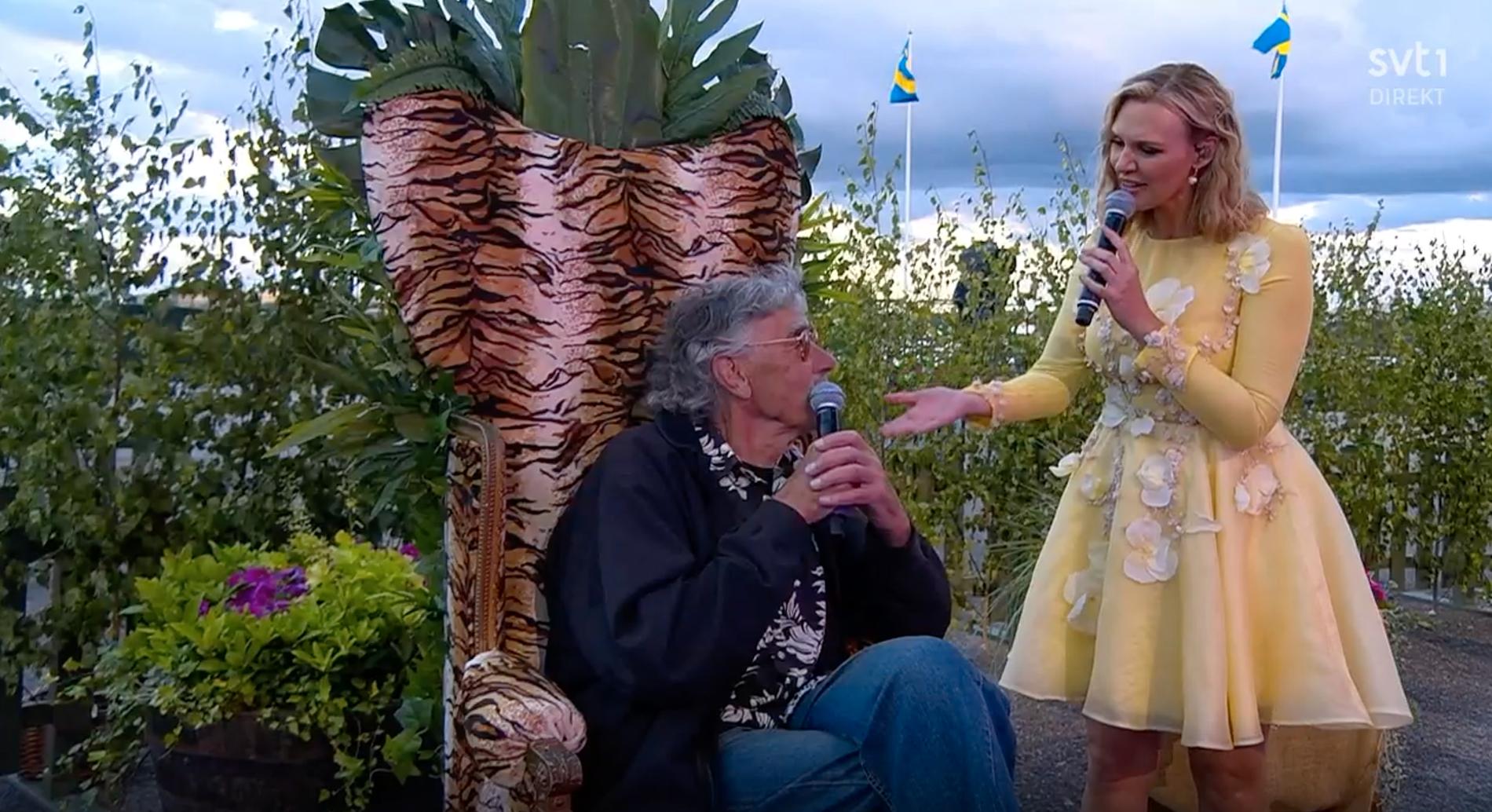 Lasse Åberg och Sanna Nielsen.