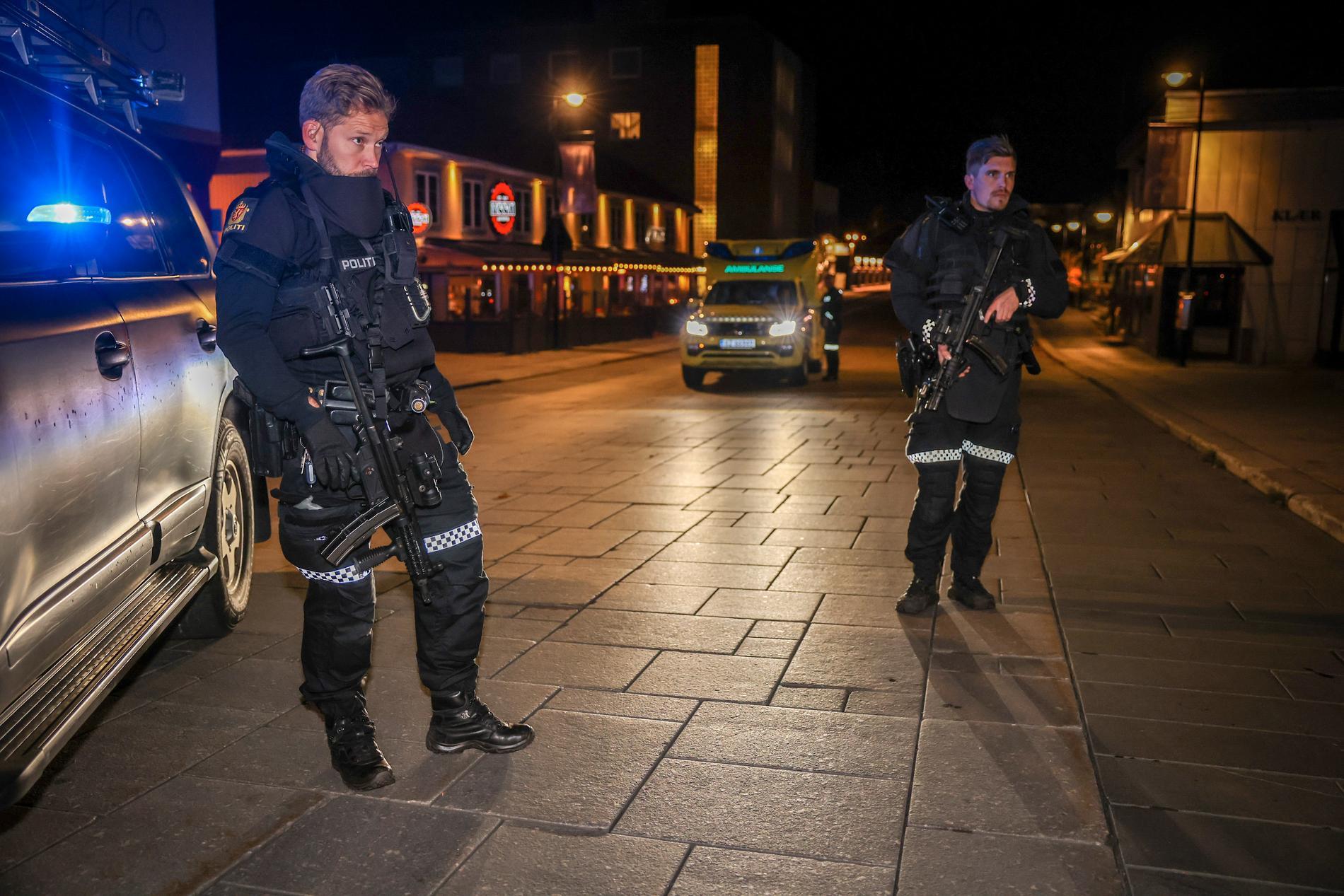 Stor polisinsats på platsen.