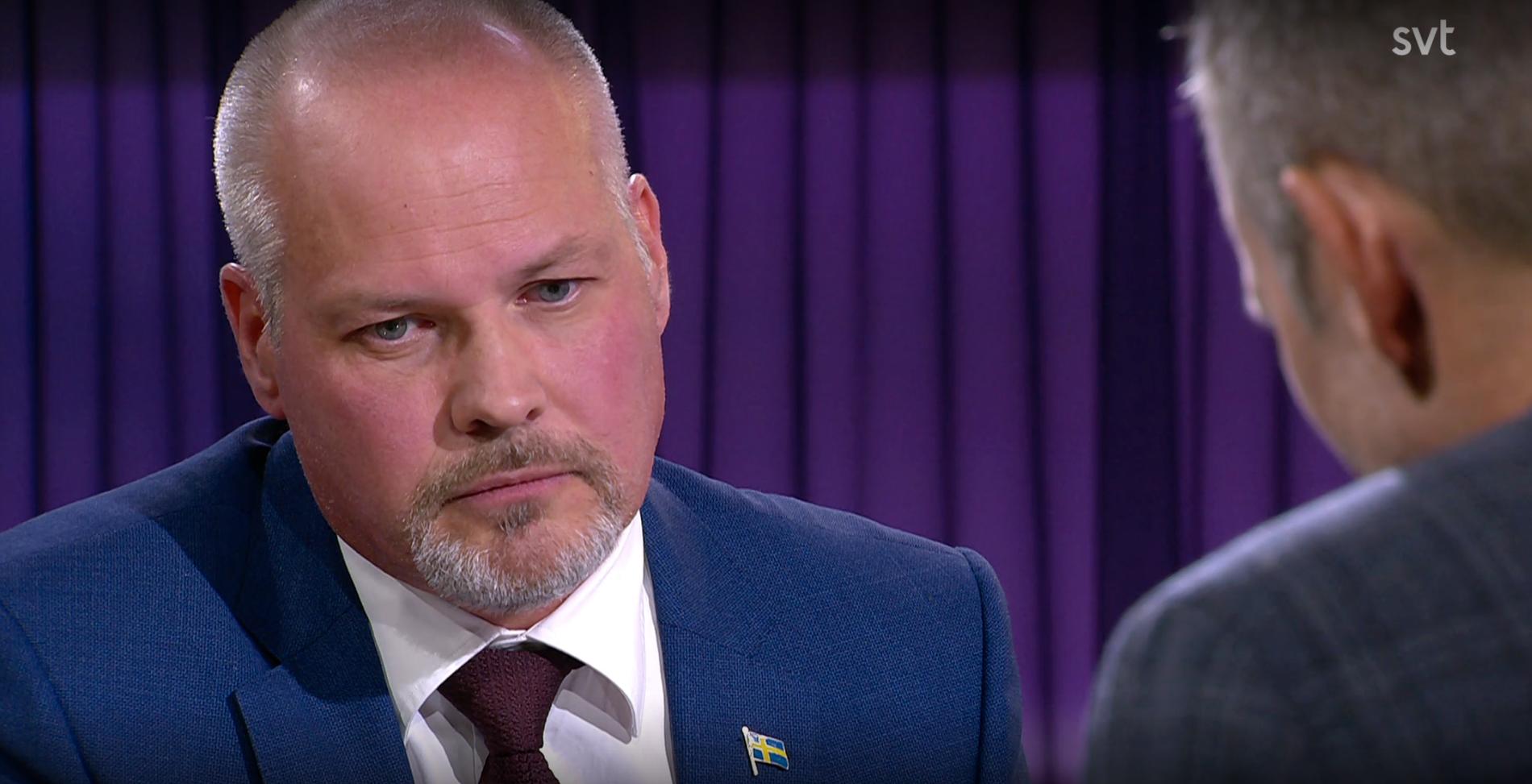 """Morgan Johansson i SVT:s program """"30 minuter""""."""