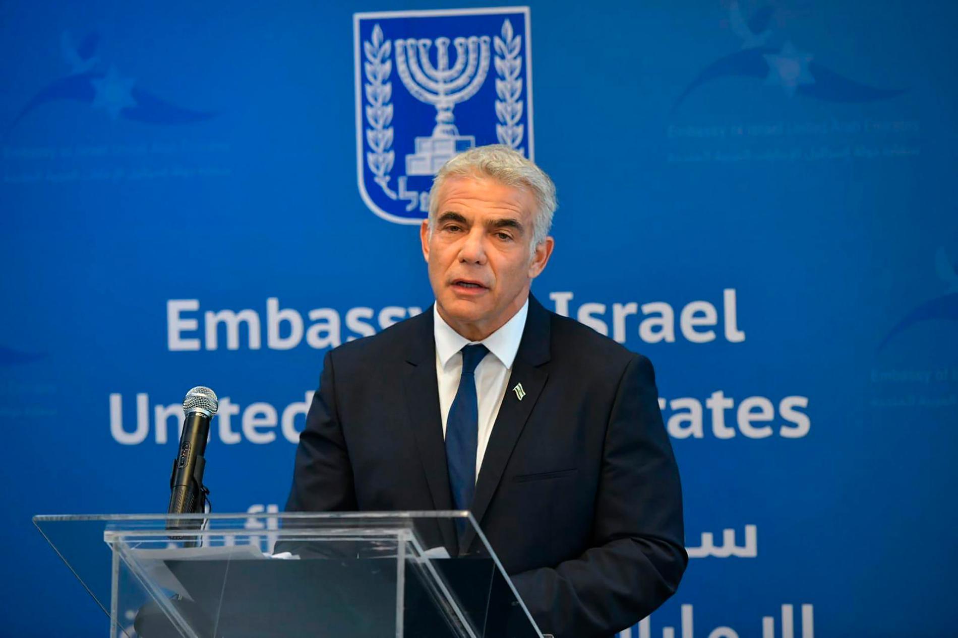 Israels utrikesminister Yair Lapid.