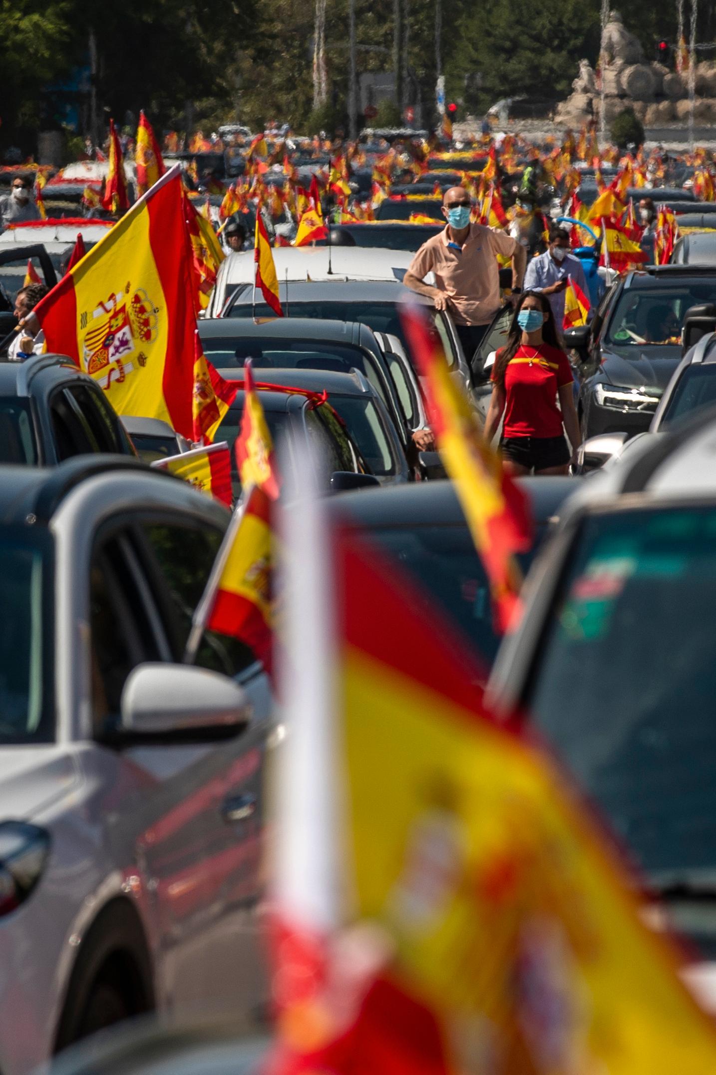6 000 demonstranter deltog i Madrid.