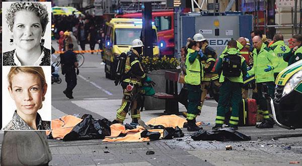Terrorns mål är att få samhällen att sluta sig och bli lamslagna av skräck. Det kommer vi aldrig låta ske. Stockholm kommer vara en öppen stad också i morgon, om detta är vi helt överens, skriver Karin Wanngård (S) och Anna König Jerlmyr (M).