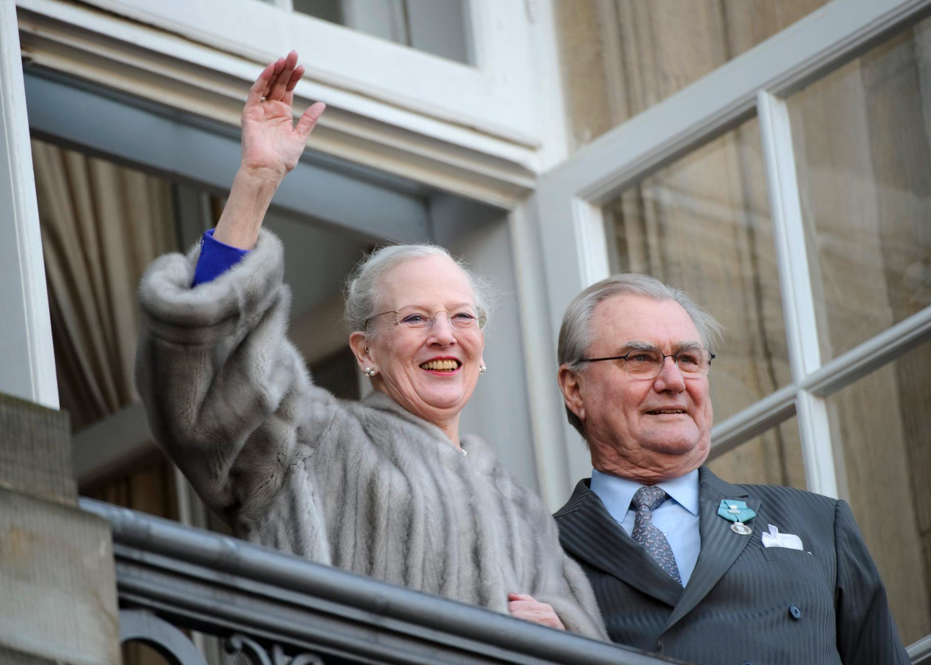 Drottning Margrehte och hennes make prins Henrik.