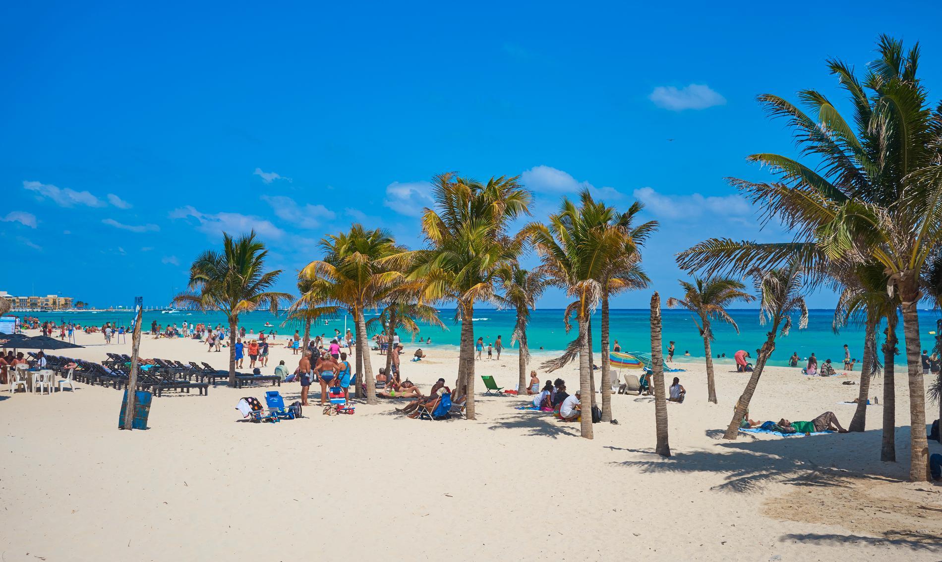 Playa del Carmen är populärt bland turister.