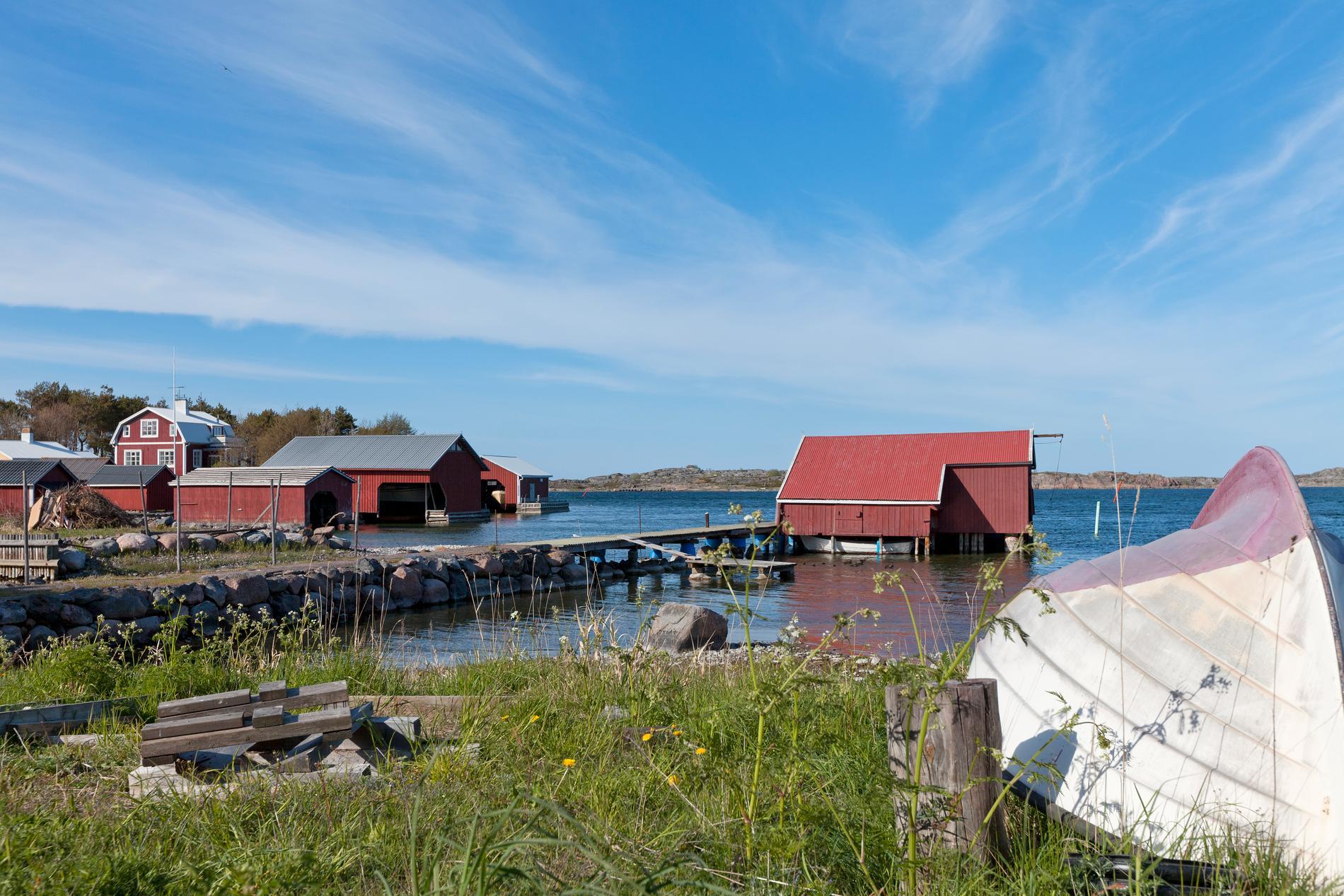 På Utö kan besökarna bland annat se gamla gruvor.