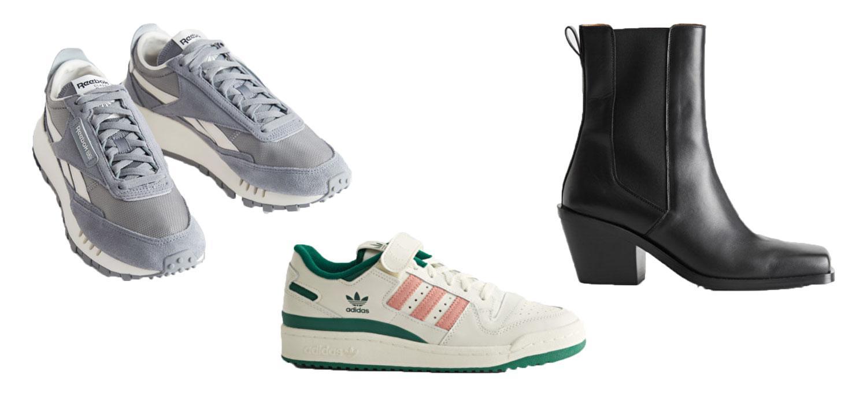 Sneakers och boots från Reebok, Adidas och & Other stories.