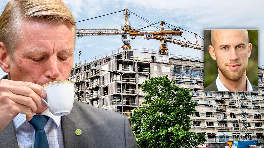 Byggandet viker brant nedåt och Per Bolund har i princip inte presterat en enda proposition med något mer omfattande bostadspolitiskt innehåll, skriver Carl-Oskar Bohlin, Bostadspolitisk talesperson (M).