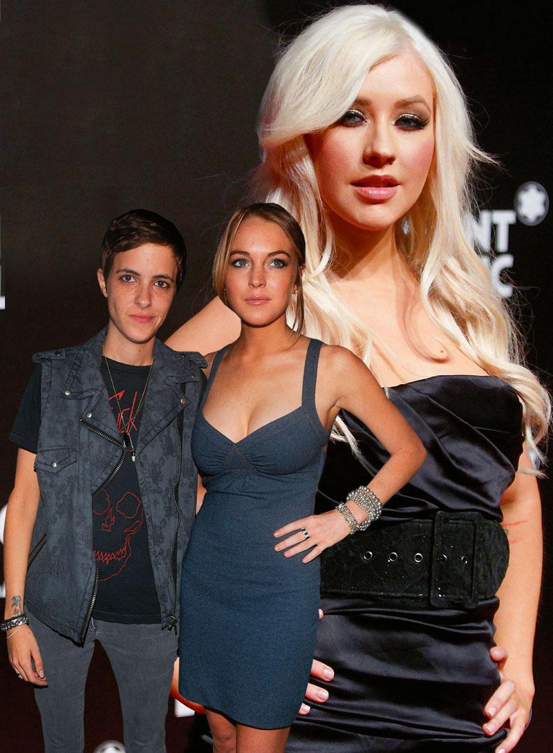 En tuff skilsmässa, prat om återförening och rykten om lesbisk kärlek. Christina Aguilera skapar drama i Hollywood tillsammans med birollerna Samantha Ronson och Lindsay Lohan.