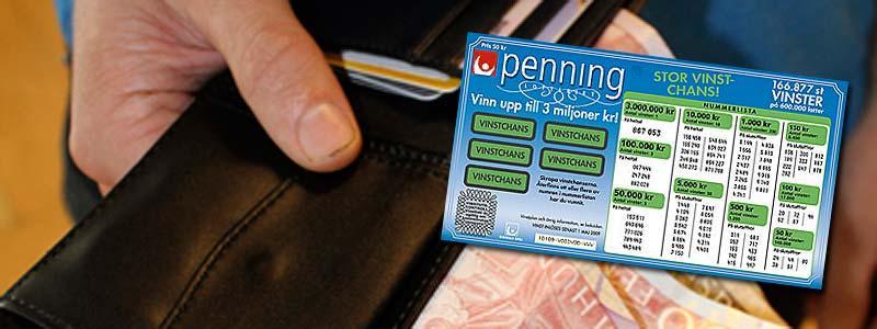 Hittade miljonlotten i plånboken Kvinnan i 60-årsåldern vann tre miljoner kronor på en Penninglott.