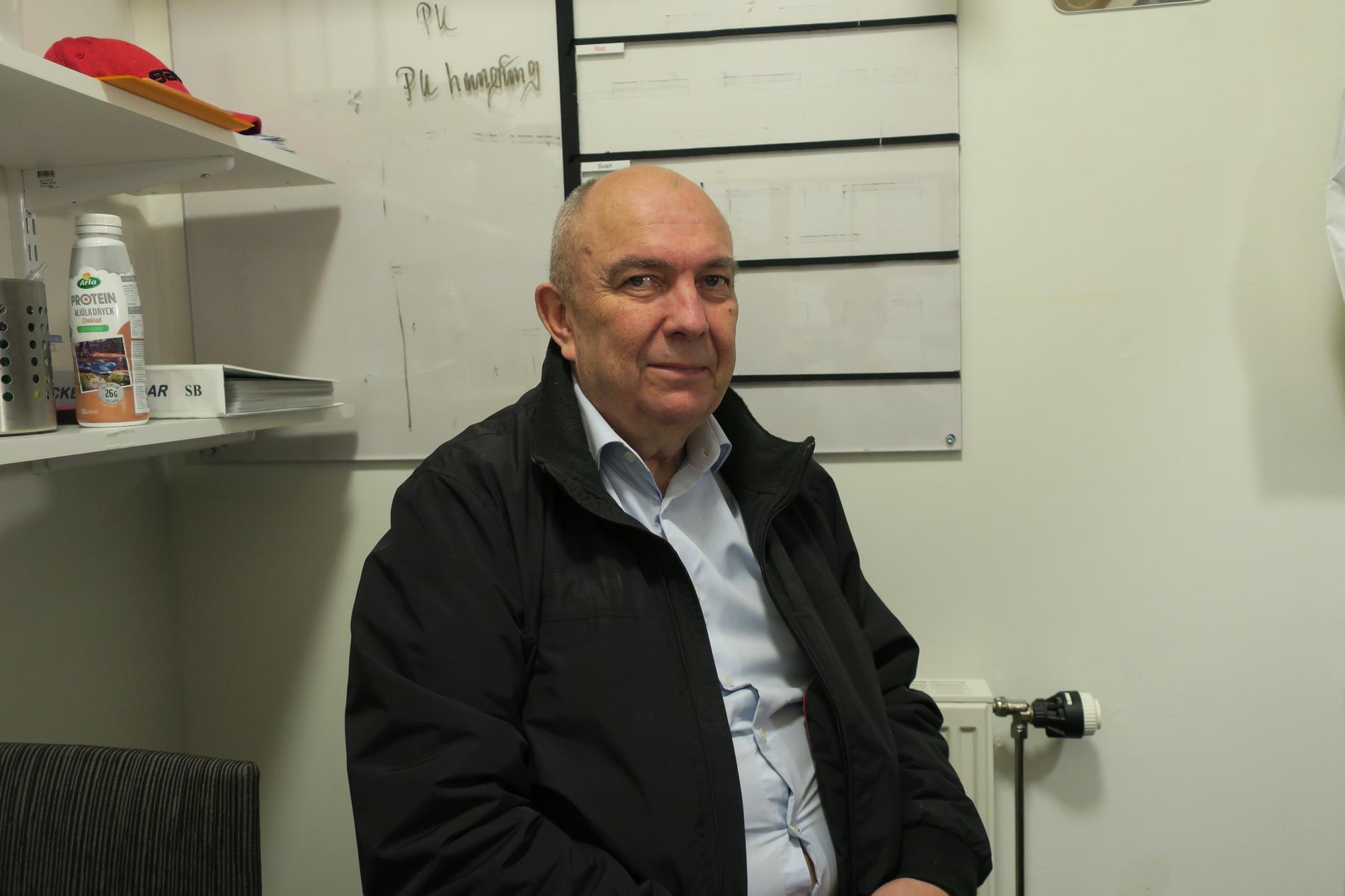 Sune Bergman 2019, när han hoppade in som tränare för Vita Hästen.