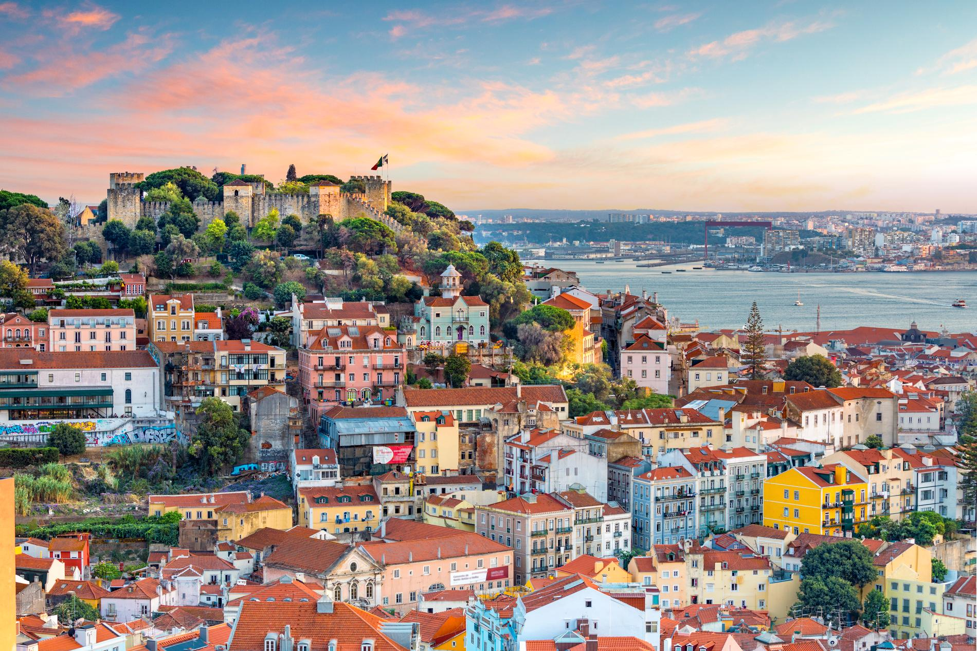 Lissabon är en stad uppbyggd på kullar.