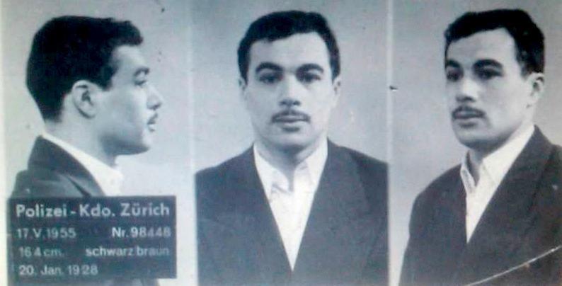 Yacef Saadi, här på ett en schweizisk polisbild från 1955, var en av de mest efterlysta rebellerna i Algeriet under 1950-talet.