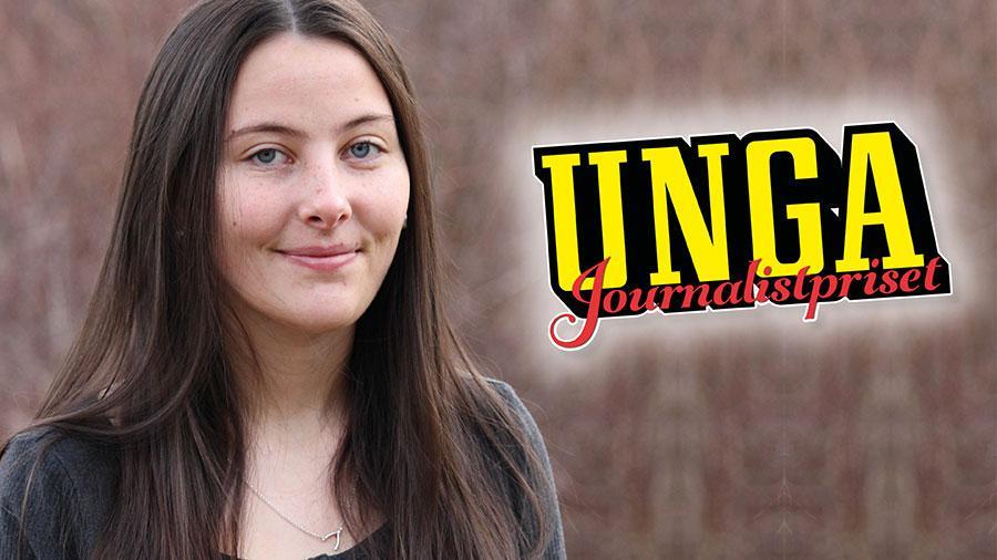 Rebecka Ax, 18, är den allra första vinnaren av Unga Journalistpriset med sin text om att ta studenten.
