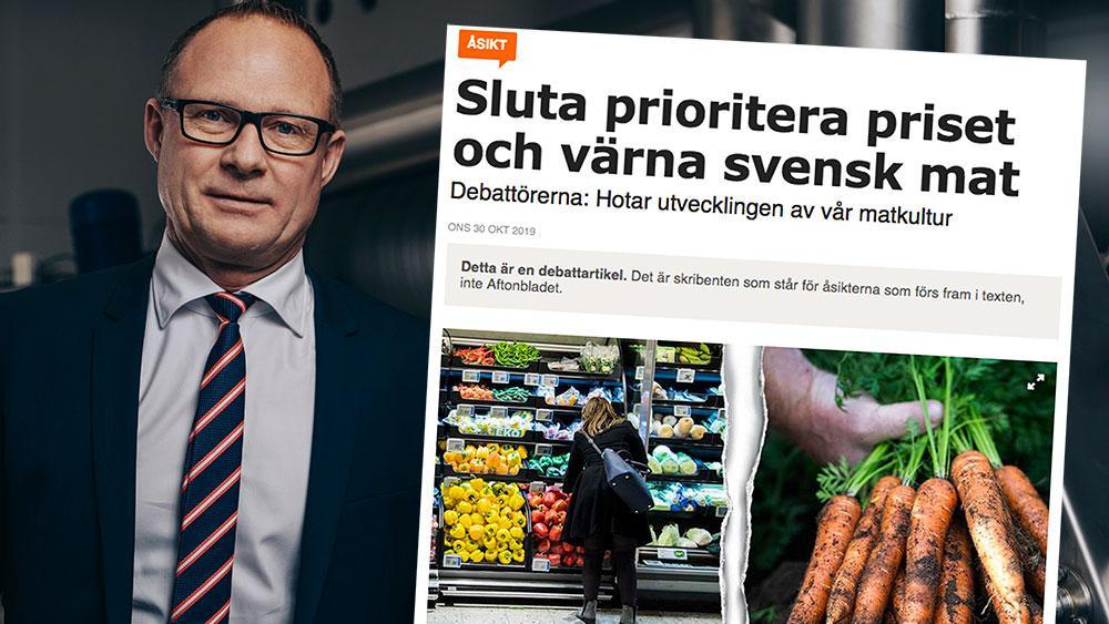 """Allt finns att få, och håller, som Kålrotsakademien lite surt skriver, """"en jämn och standardiserad kvalitet"""". Som om det skulle vara dåligt att alla, oavsett storleken på plånboken, kan köpa god mat och dryck av god kvalitet, skriver Björn Hellman, vd Livsmedelsföretagen i en replik till Kålrotsakademien."""