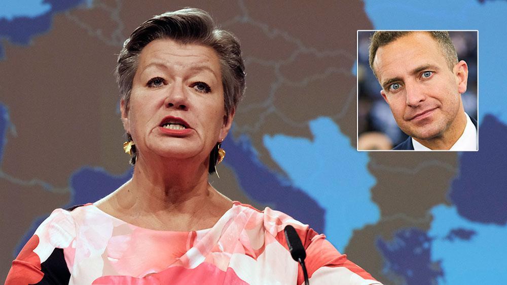 Ylva Johansson och EU-kommissionen vill hålla Sverige som gisslan för att få oss att gå med på orimliga krav om en kraftigt höjd EU-avgift och om att införa EU-skatter, skriver  Tomas Tobé (M).