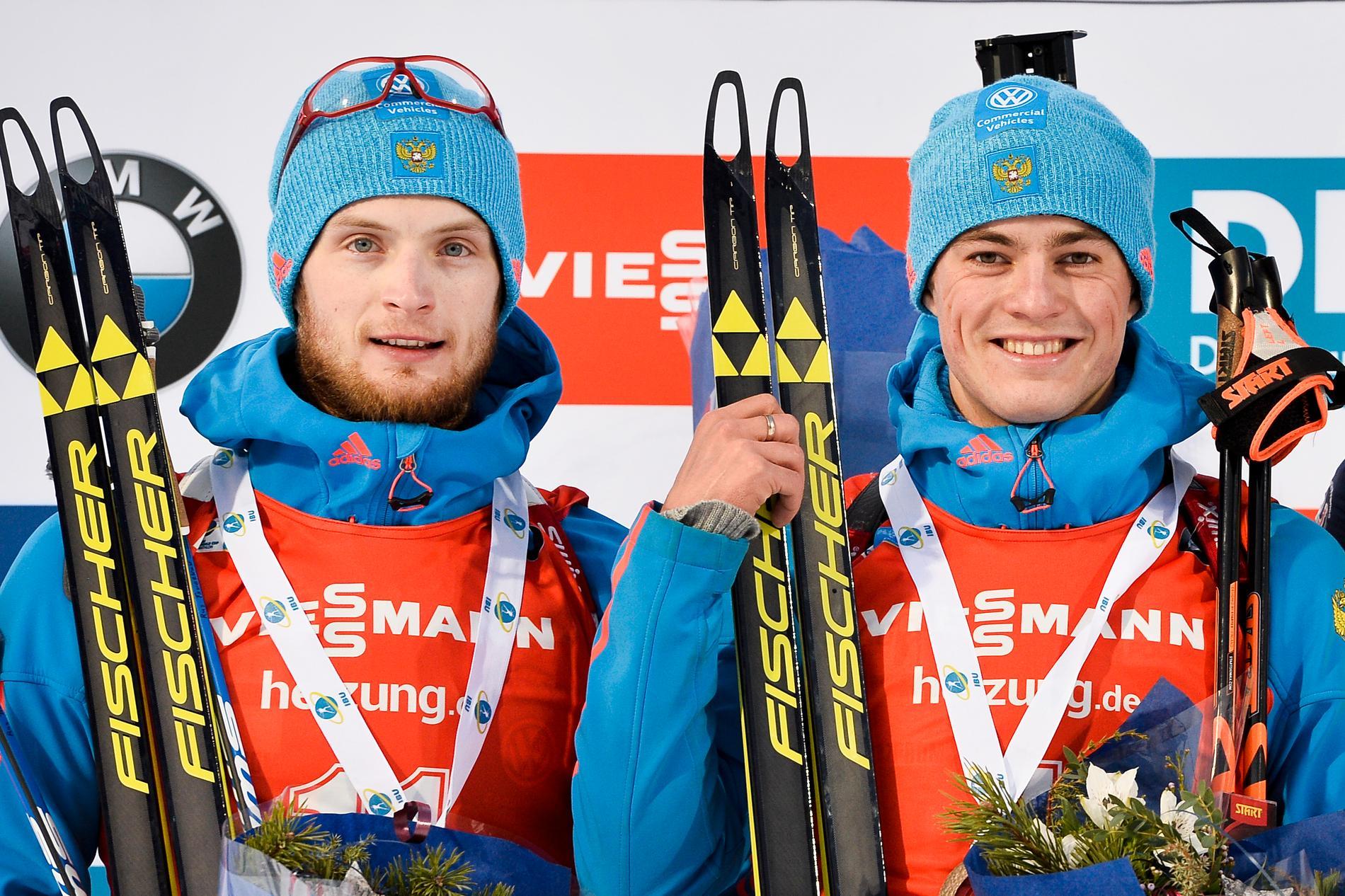 Tvåan Maxim Tsvetkov, och vinnaren Anton Babikov, båda ryssarna var på pallen i världscupen i Östersund i början av december.
