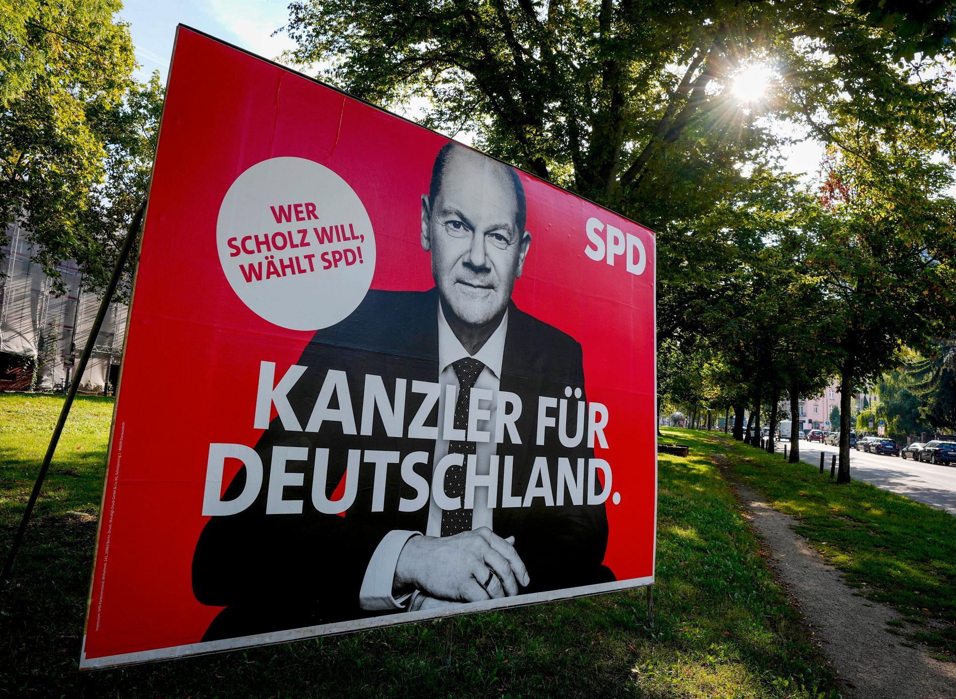 Olaf Scholz, SPD, kan bli nästa tyska kansler.