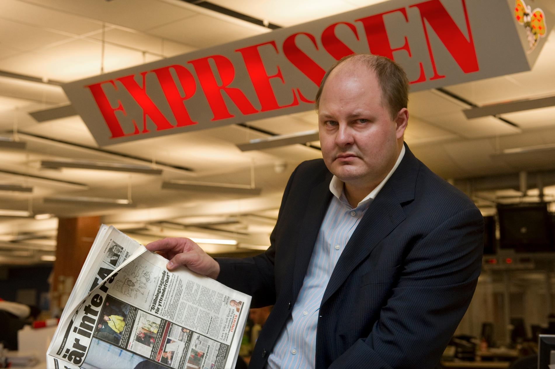 Thomas Mattsson, Expressens chefredaktör.