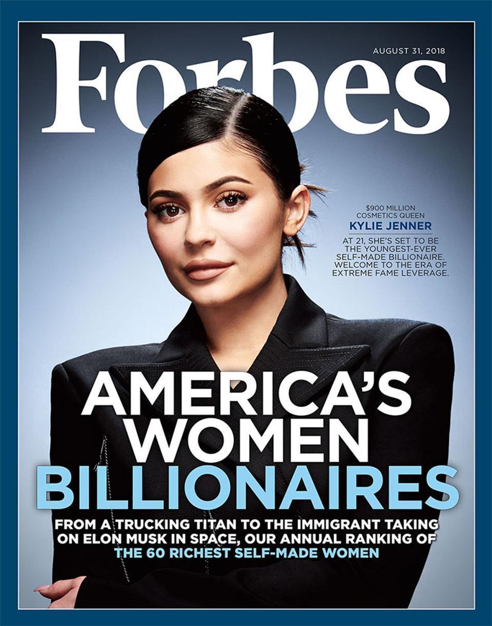 Kylie Jenner på omslaget till Forbes.
