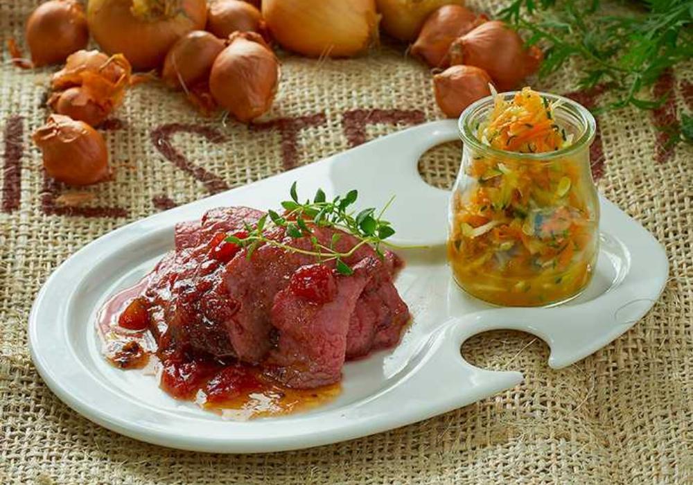 Ryggbiff och zucchinisallad