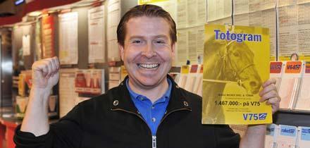 Mikael Tobiasson får fira igen tillsammans med kunderna – den här gången spelade han in över 1,5 miljoner kronor på V64.