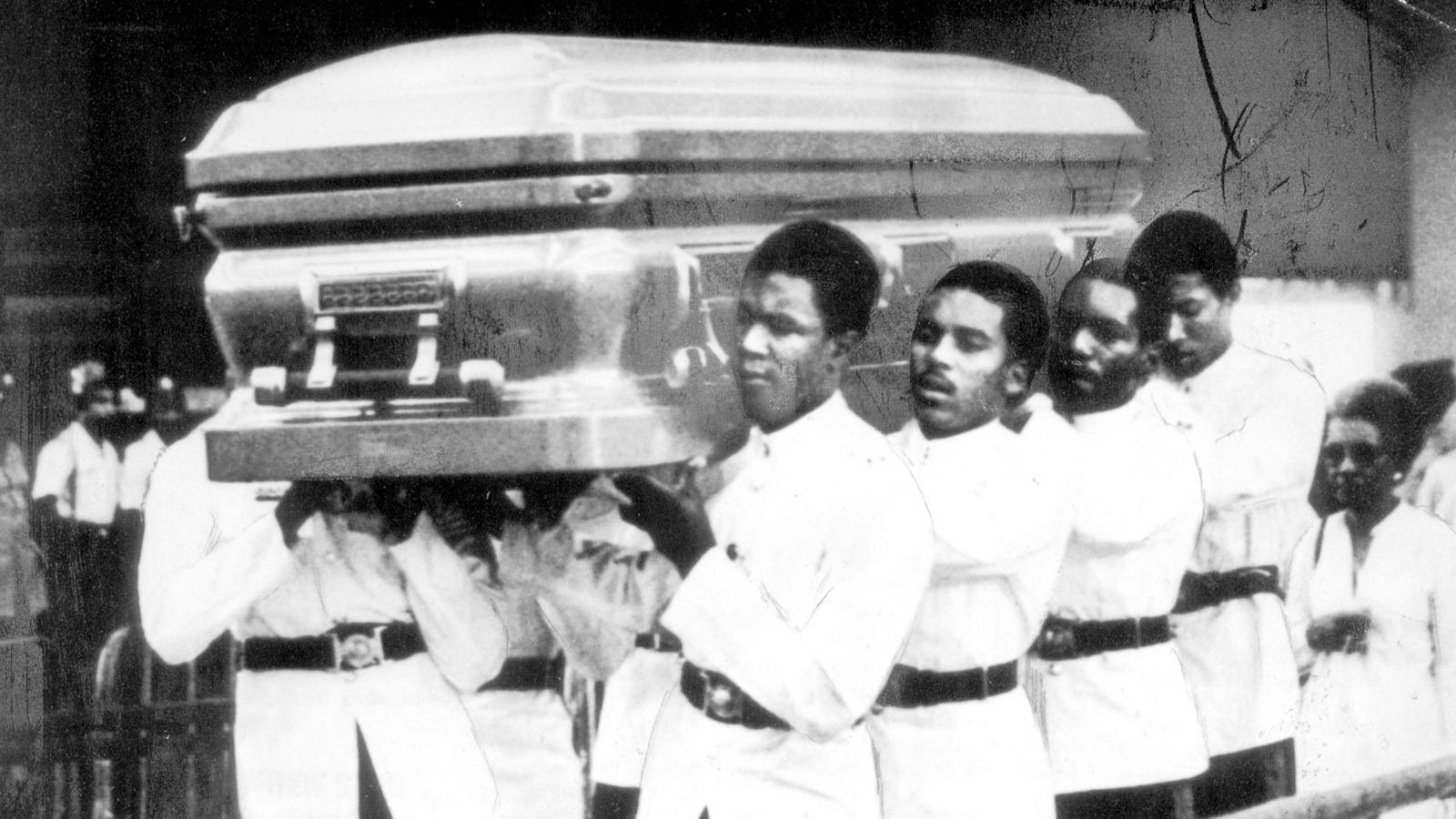 Bob Marleys begravning på Jamaica 1981.