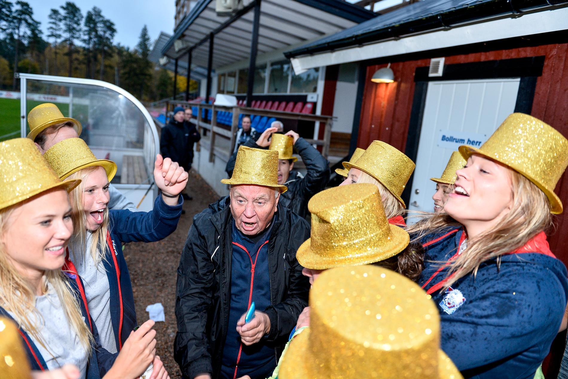 Linköping jublar efter SM-Guldet 2016.