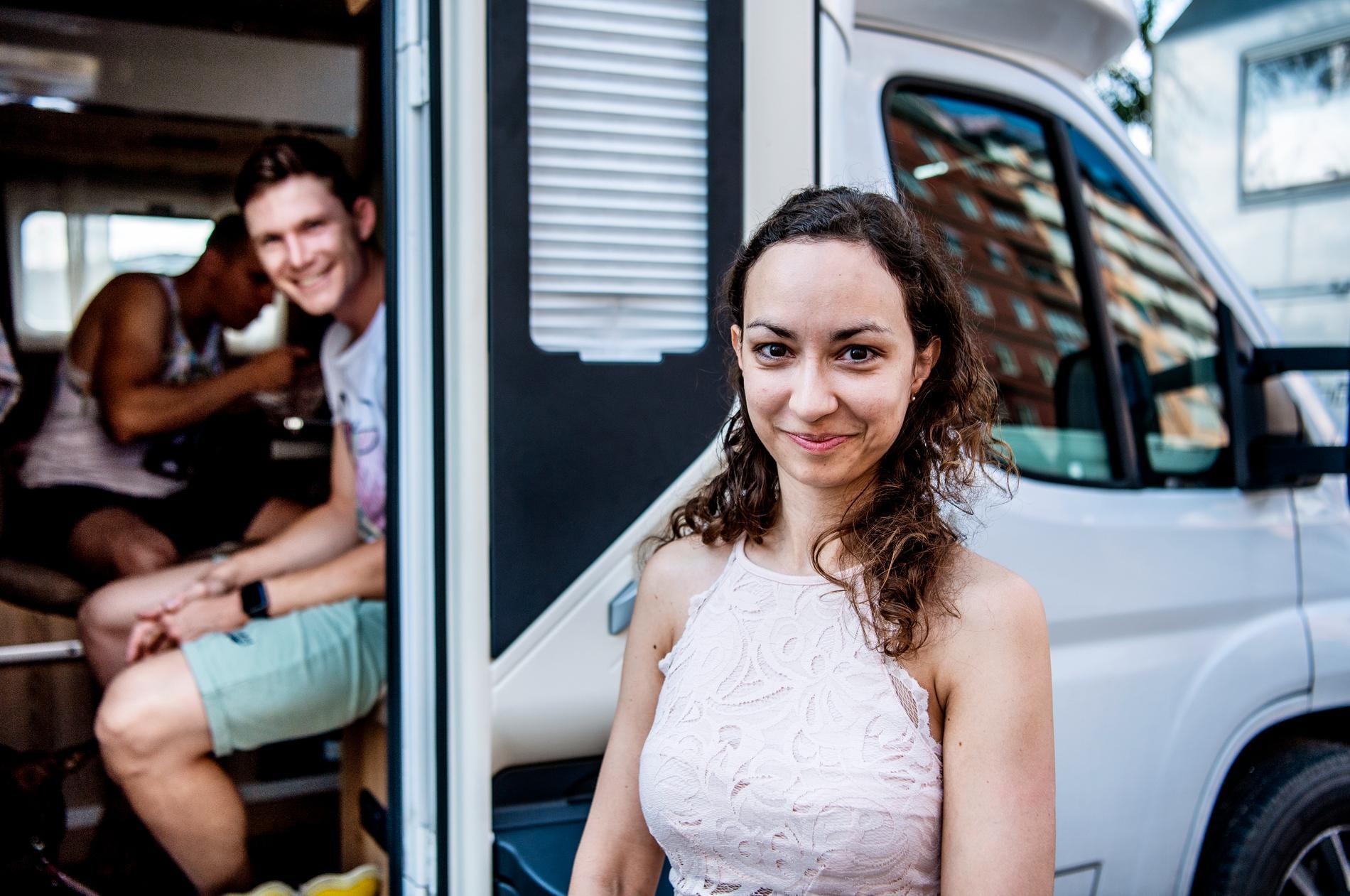 David Ales och Tina Grum från Slovenien semestrar i Stockholm.