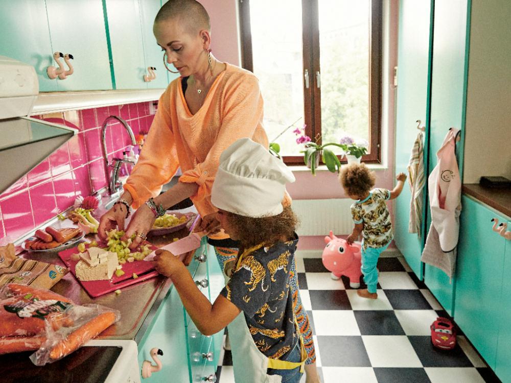 Linssoppor, böngrytor och tofu knaperstekt i sesamolja är mina barns favoriter, berättar Sanna Bråding.