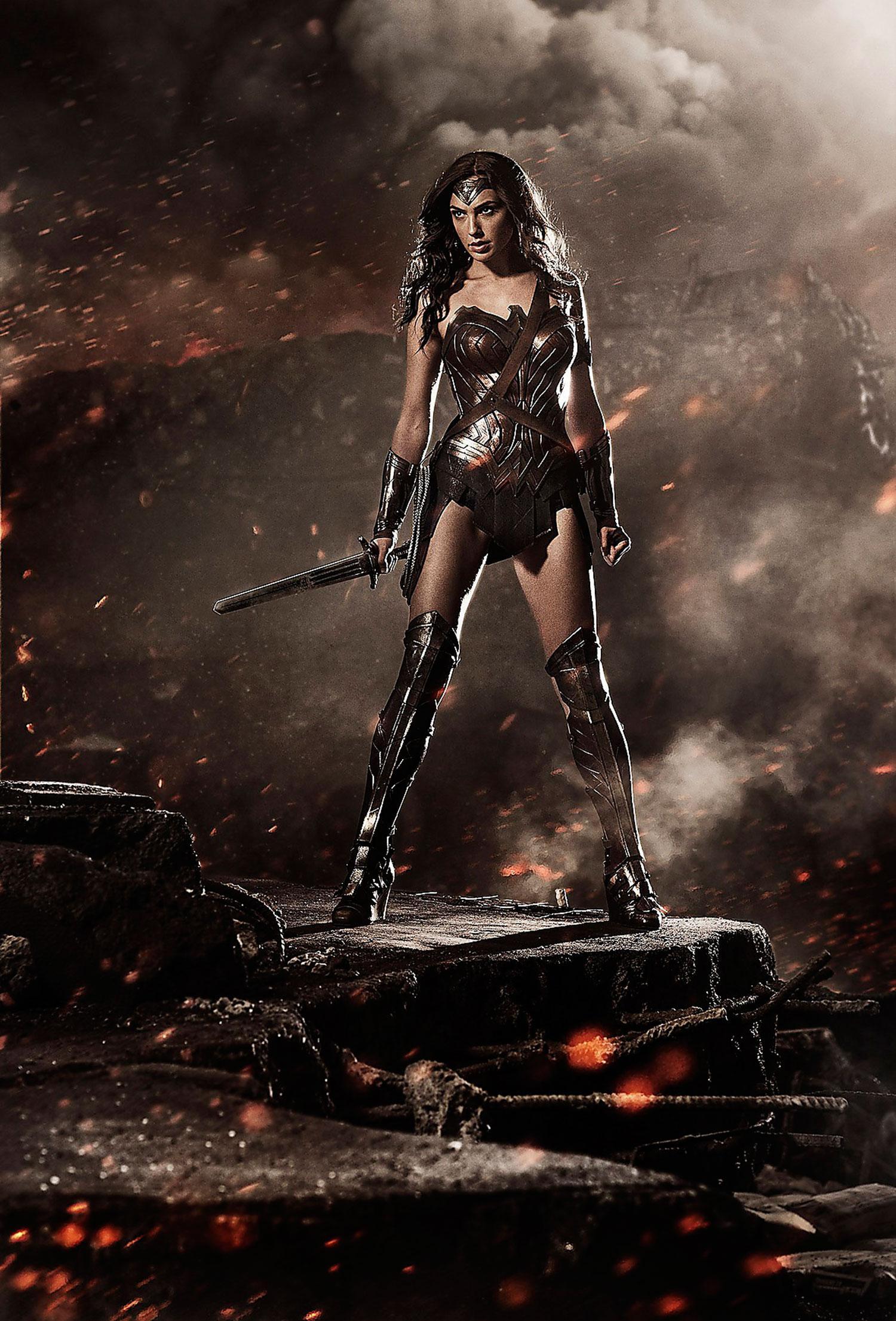 "Gal Gadot som Wonder woman i  ""Batman v Superman: dawn of justice"""