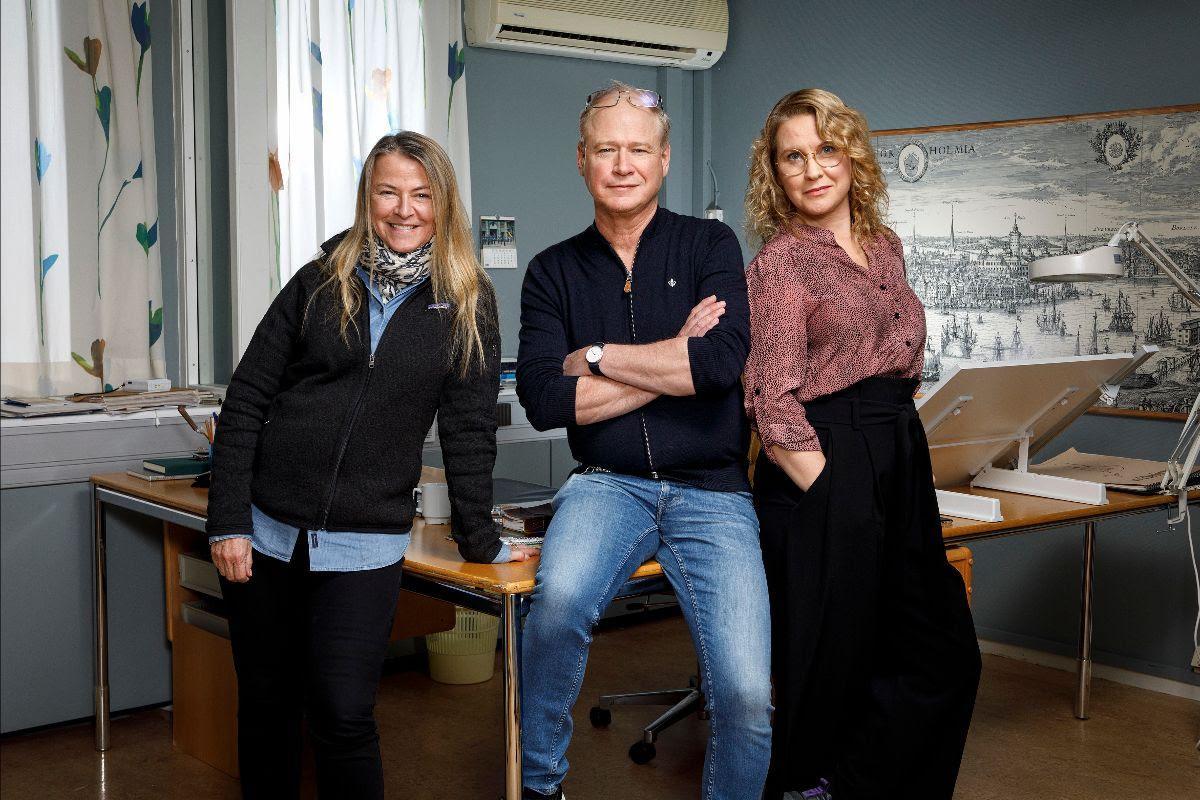 Charlotte Brändström, Robert Gustafsson och Eva Melander.